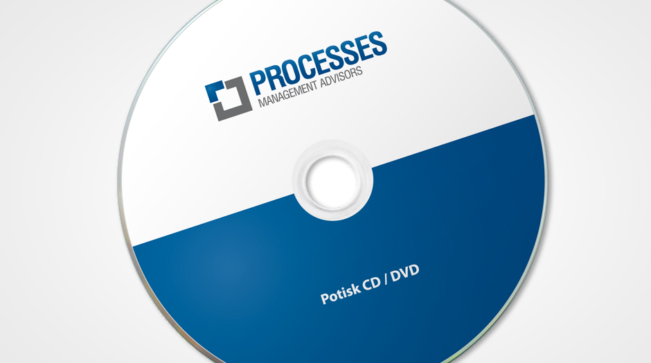 Processes potisk CD/DVD